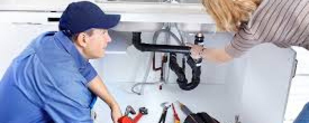 Working with professional plumber